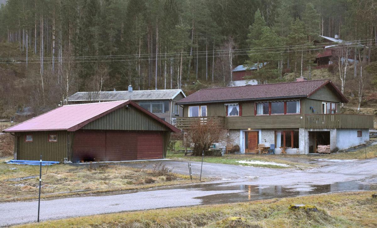 Eigedomen Sissihaug slik den ser ut frå hovudvegen.  Foto: Jon Olav Ørsal