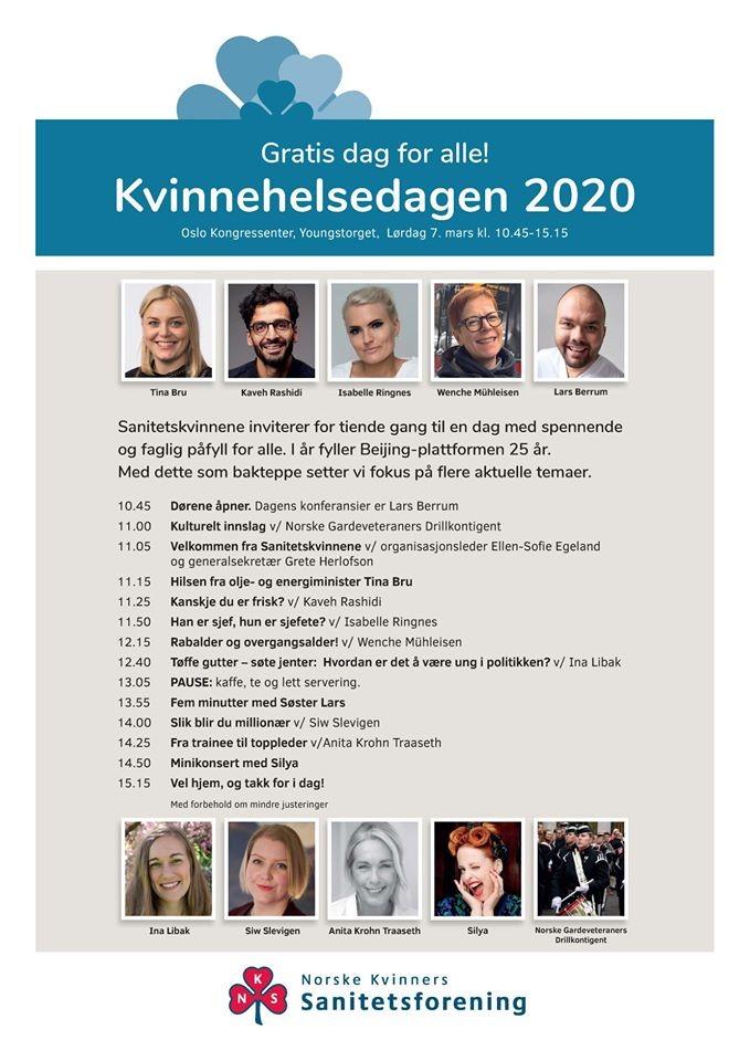 AVLYST! Kvinnehelsedagen 2020 blir vist på storskjerm i Todalen ungdomshus