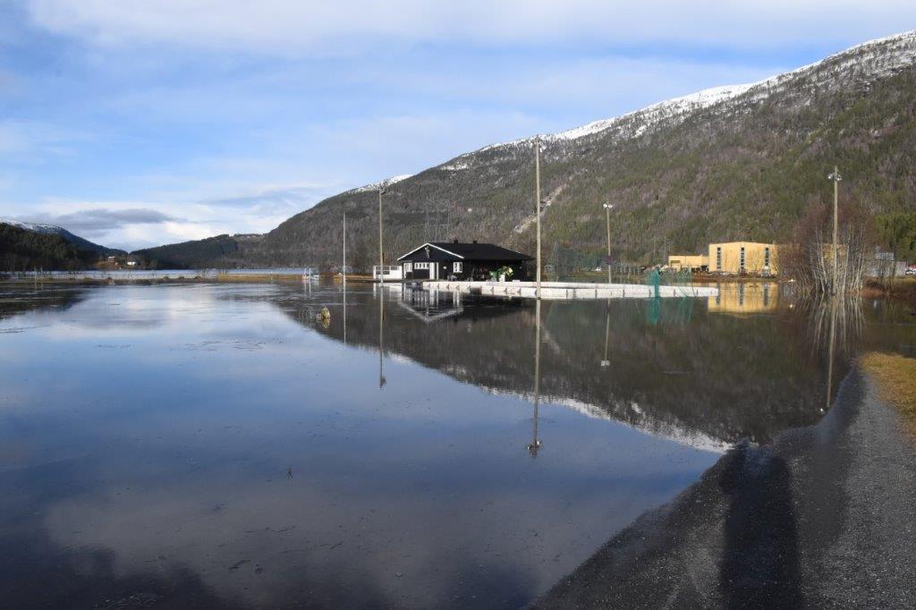 Det er nok ikkje ofte du ser Bordholmen slik!  Foto: Jon Olav Ørsal