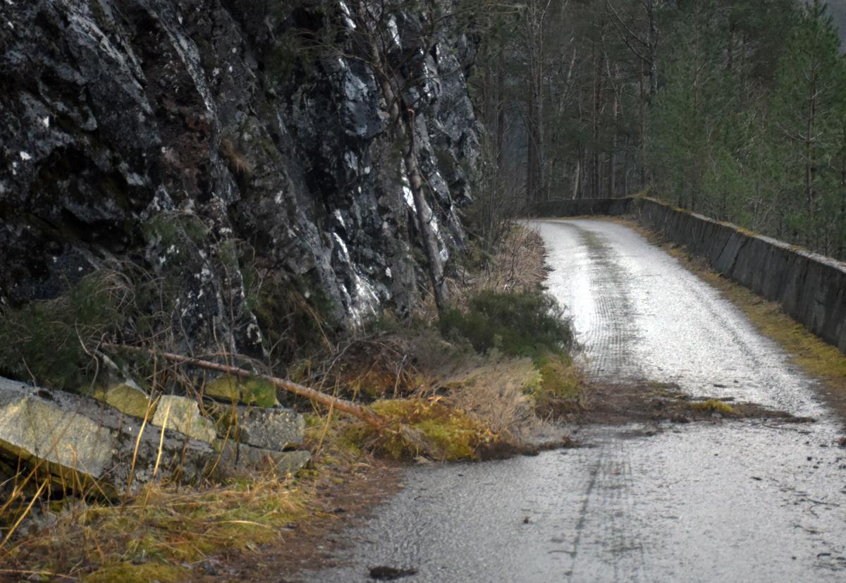 Vær forsiktig rundt Kammen - her kan det fort kome meir masse rasande.  Foto: Jon Olav Ørsal