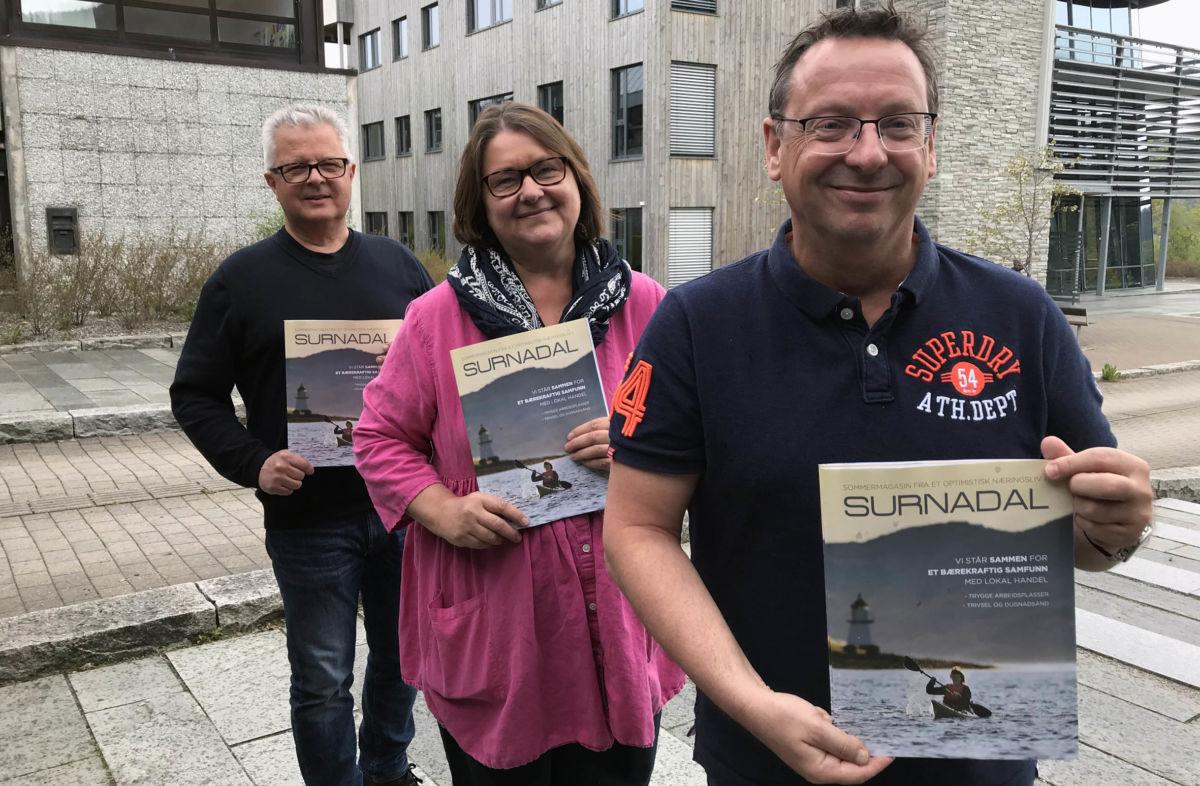 Bli med på lokal handledugnad oppfordrer Harald bredesen, Karin Halle og Stig Husby.  Foto: Lina Skjerve Vatten.