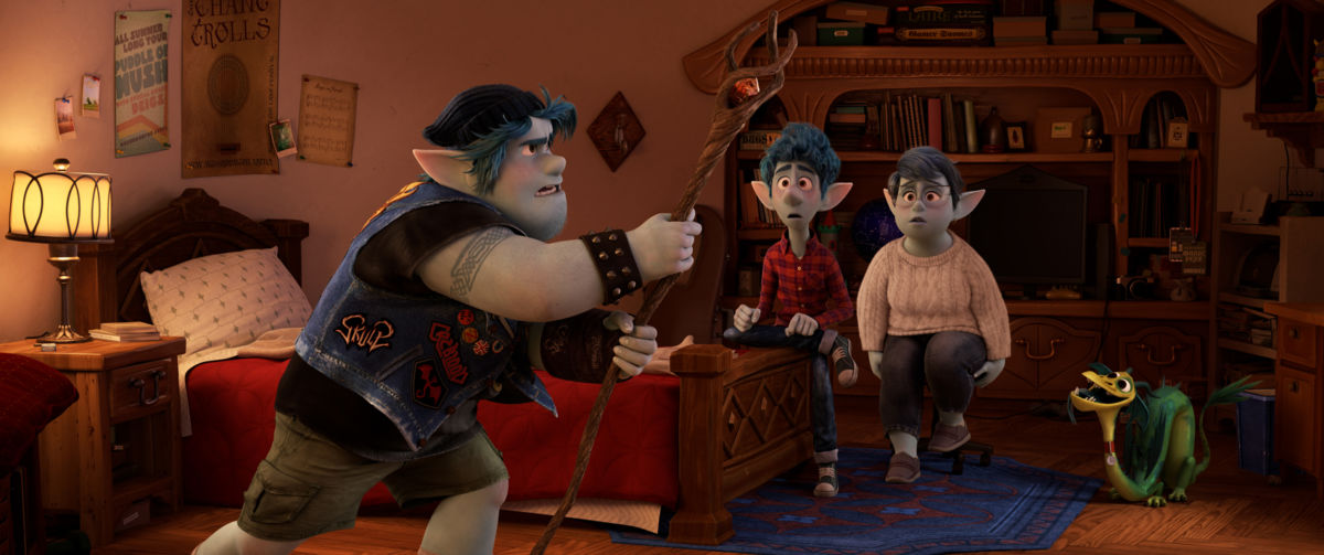 """CONJURING DAD – In Disney and Pixar's """"Onward,"""" mom Laurel Lightfoot (voiced by Julia Louis-Dreyfus) presents her sons Ian and Barley (voiced by Tom Holland and Chris Pratt) with a special gift from their late father on Ian's 16th birthday. But when an accompanying spell meant to magically conjure their dad for one day goes awry, they embark on a quest fraught with some of the most unexpected obstacles. Directed by Dan Scanlon and produced by Kori Rae, """"Onward"""" opens in U.S. theaters on March 6, 2020.  © 2019 Disney/Pixar. All Rights Reserved."""