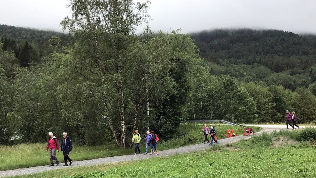 På tur frå Halsabrua mot Gunnøya. Foto: Dordi J H