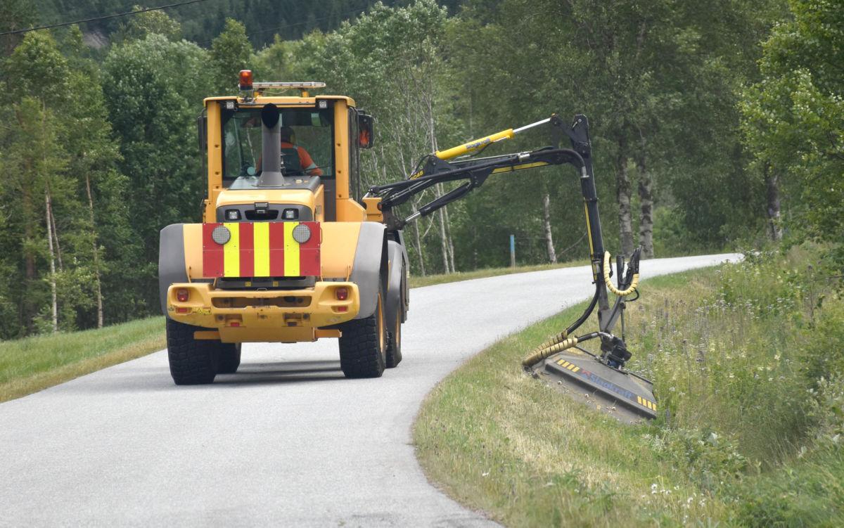 Kommunal kantslått i Brusetmarka itorsdag ettermiddag - foto: Jon Olav Ørsal