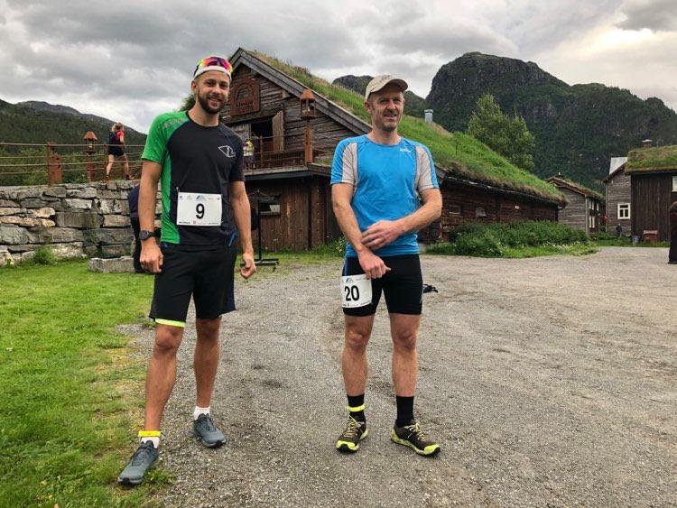 Kristoffer Nordvik (nr9) og Halvor Drøpping (nr20) klar for start