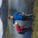 Fisking  i  Litjvatnet  i  Fagerlidalen.  Folldalssnota  i  bakgrunnen