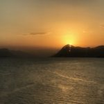 Solnedgang  i  oktober