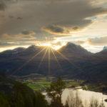 Novembersol  over  Todalen