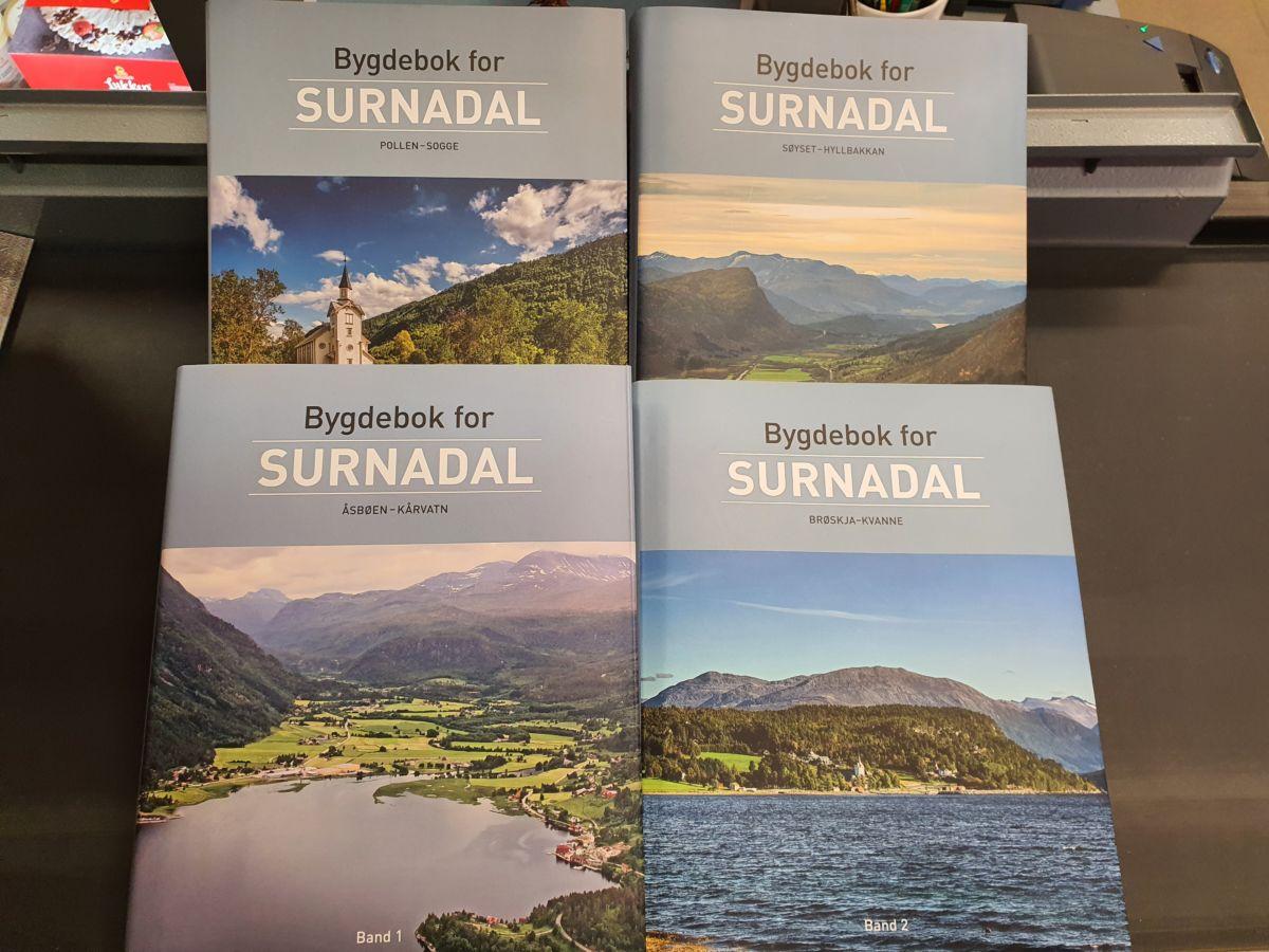 Bygdebok for Surnadal band 1-4. Foto: B G Ansnes