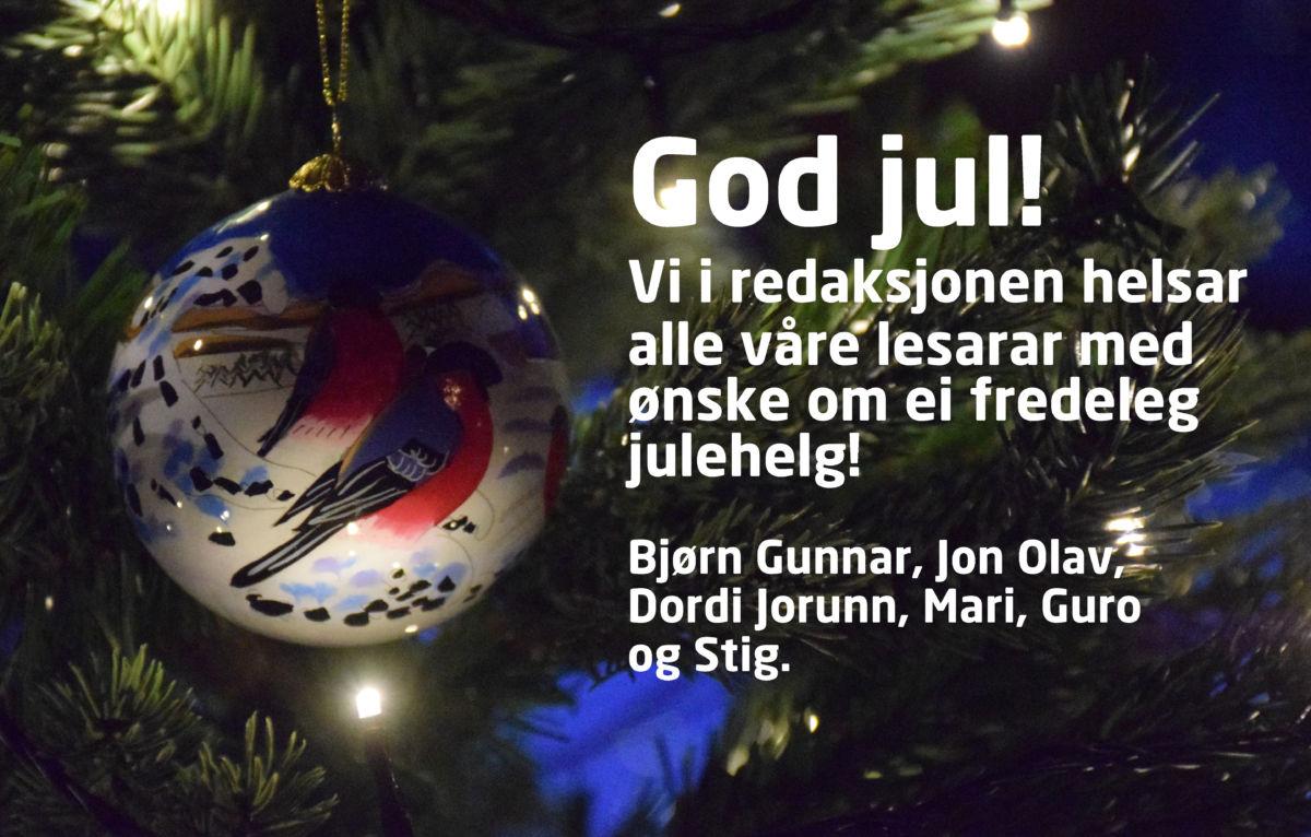 Julehelsing frå redaksjonen - fotomontasje Jon Olav Ørsal