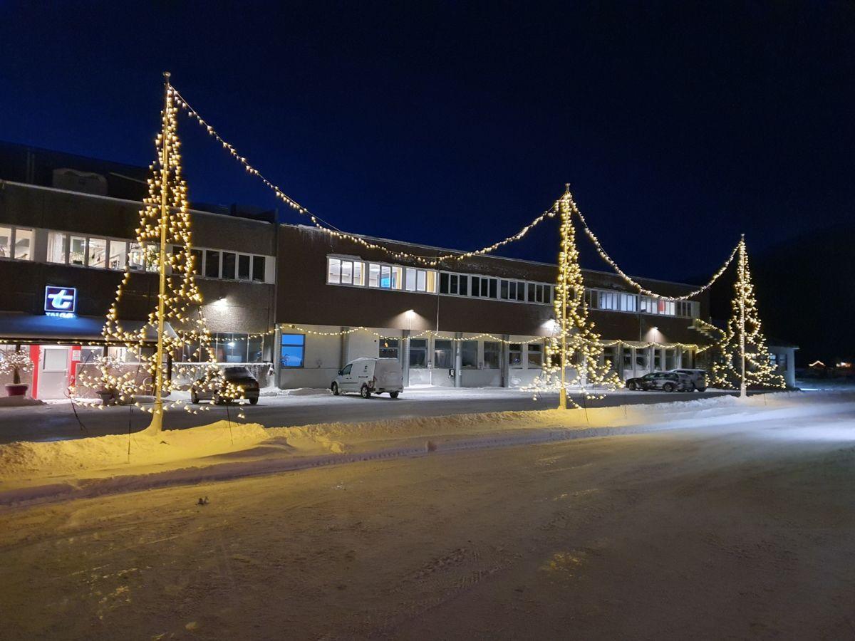 Julegata 2020/21 rett før nedrigging. Foto: B G Ansnes