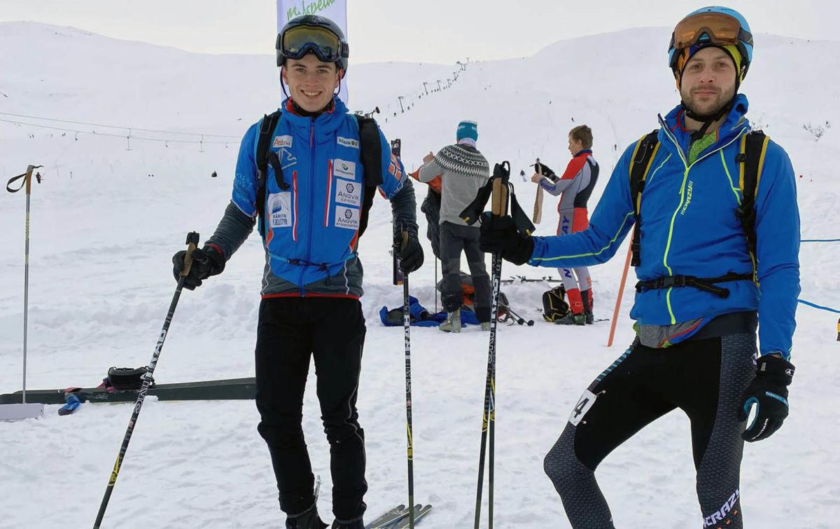 Erik Kårvatn og Kristoffer Nordvik  - rett etter målgang til henholdsvis 6.- og 5. plass. Foto G. Kårvatn