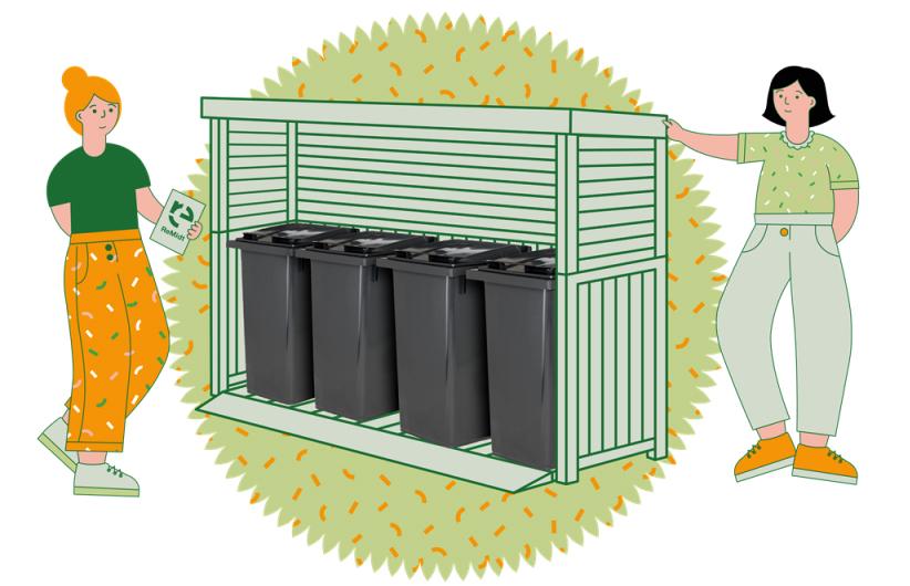 I løpet av året blir det 4 dunkar å halde styr på! Illustrasjon: ReMidt