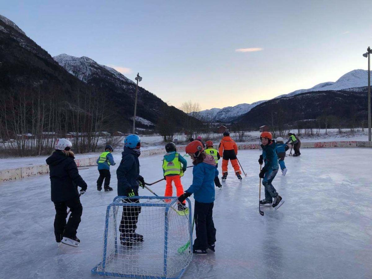 Ishockey er moro. Foto: Torill Gjeldnes