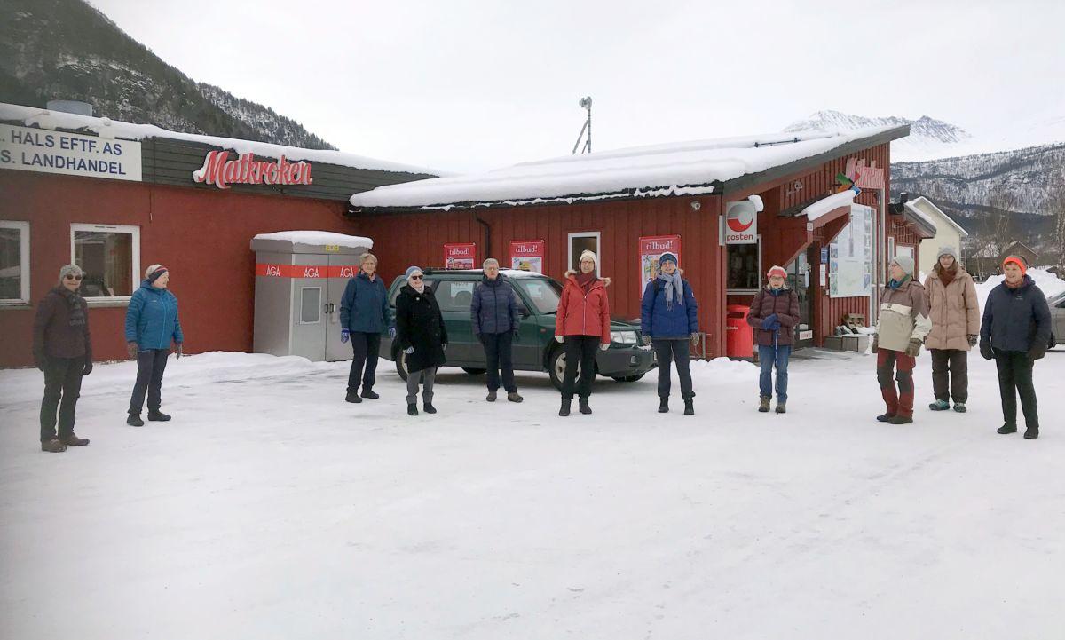 Klare for årets første kløvertur! Foto: Dordi J H