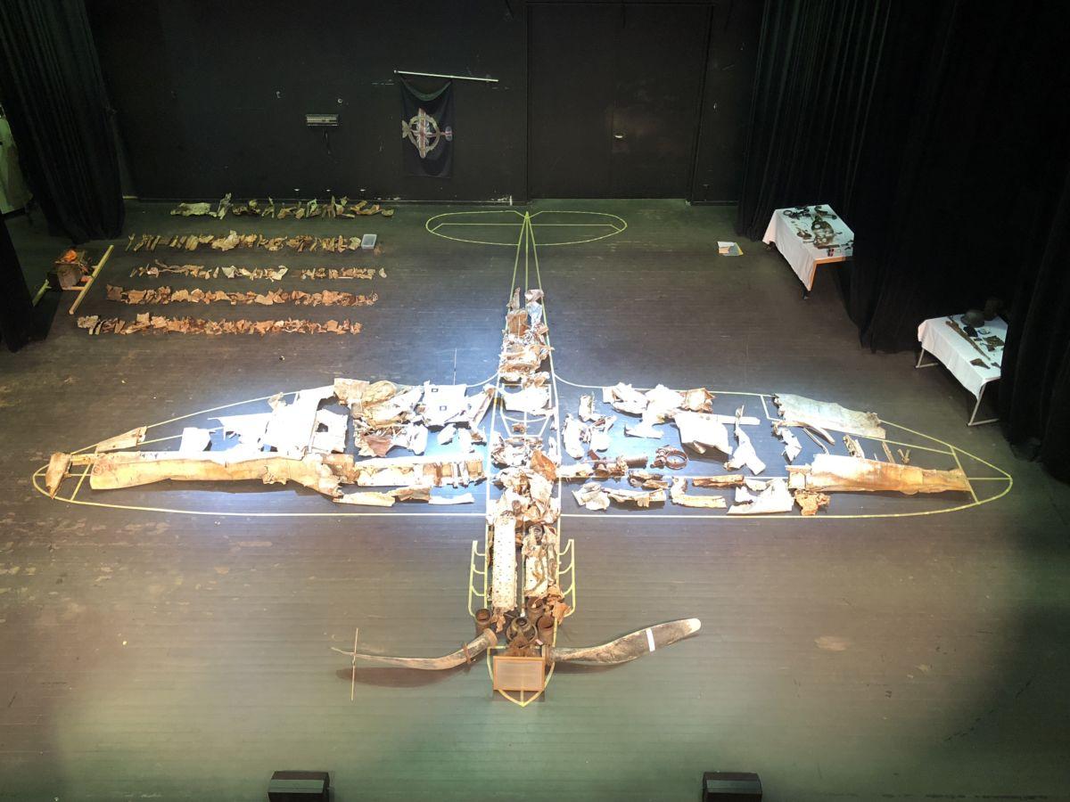 Delane frå Spitfireflyet som vart skote ned over Nordmarka er frakta til England og bygd oppatt der. Foto: Tony Hoskins