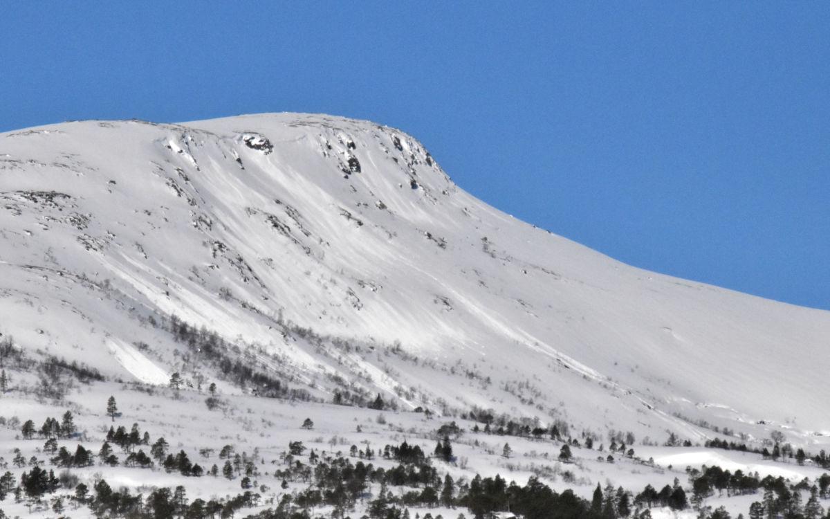 Det har gått mange ras i området ved Litj-fjellet - og mange andree plassar.  Foto: Jon Olav Ørsal