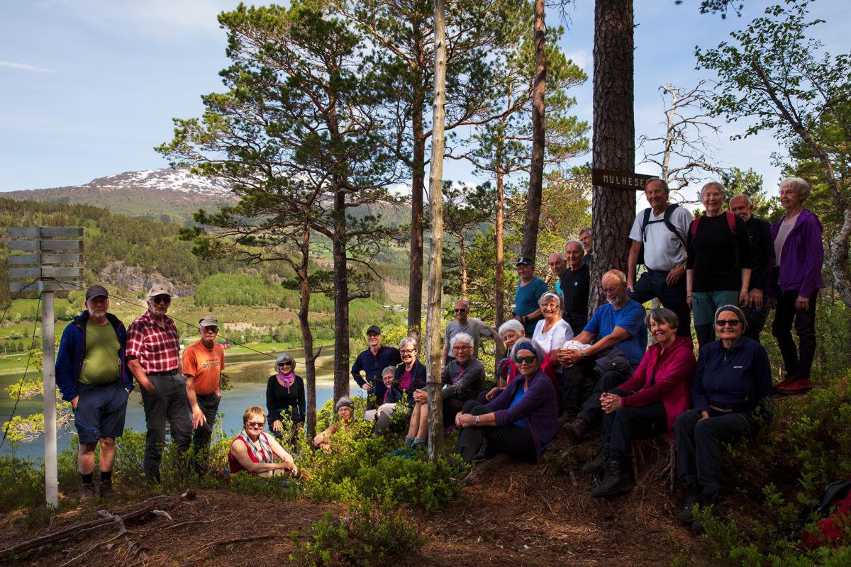 Alle 25 framme på Mulneset. Foto: Anne V. Einum