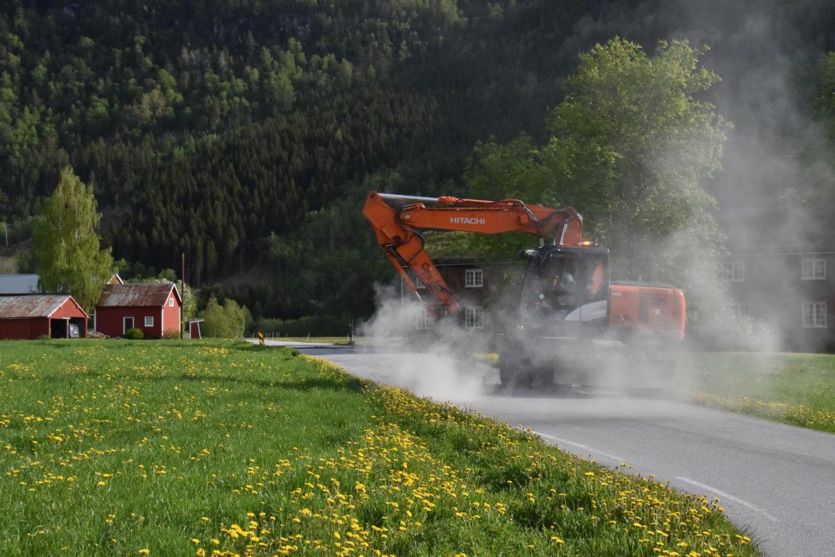 Her blir asfalten saga for å lage