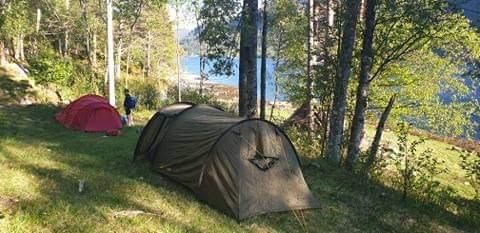 Camp Gjengstøa ferdig oppsett. Foto: V A Ansnes