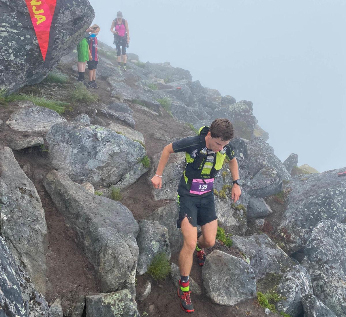 Erik Kårvatn sikra seg ein sterk 4 plass i dagens løp - det lover bra for Kårvatn SkyRun i august.  Foto: G.Kårvatn