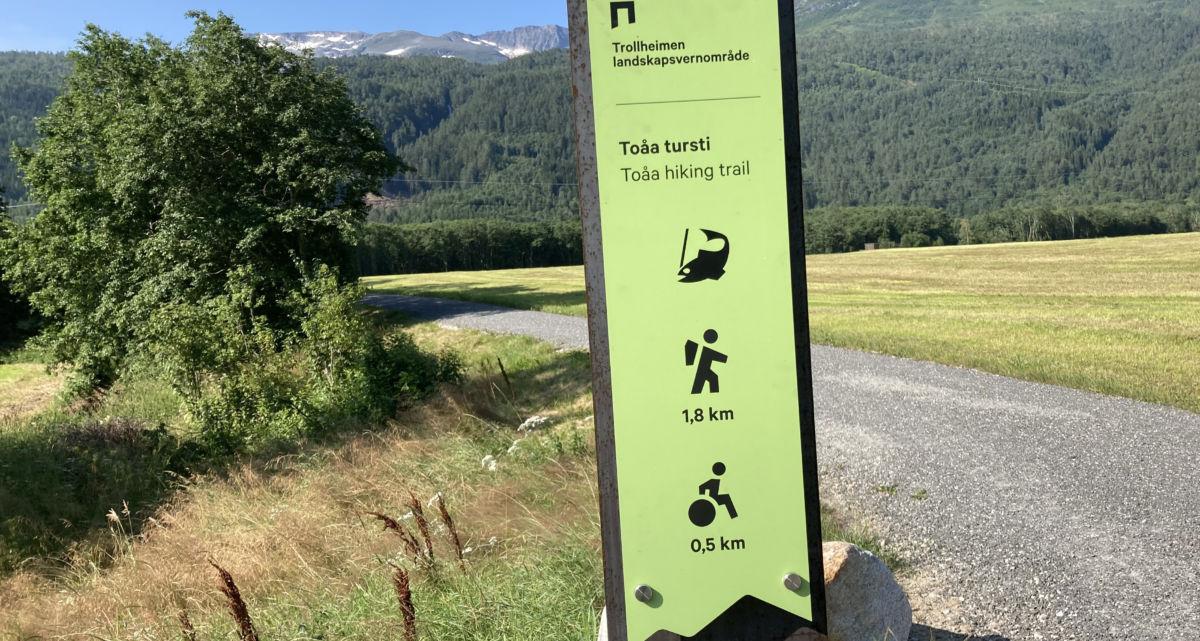 Ta turen langs elva - 1,8 km eller 3,6 km dersom du tek tur/retur.  Foto: Jon Olav Ørsal